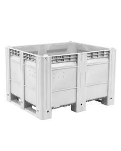 "Decade MACX Ace 48"" x 40"" x 31"" Integrated 3-Runner Solid Wall Container - White"