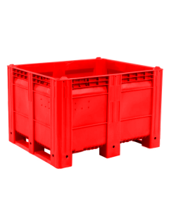 "Decade MACX Ace 48"" x 40"" x 31"" Integrated 3-Runner Solid Wall Container - Red"
