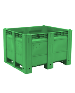 "Decade MACX Ace 48"" x 40"" x 31"" Integrated 3-Runner Solid Wall Container - Green"