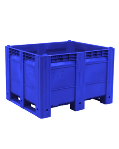 "Decade MACX Ace 48"" x 40"" x 31"" Integrated 3-Runner Solid Wall Container - Blue"