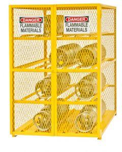 """Durham 12 Cylinder Horizontal 50"""" x 42"""" x 71-3/4"""" Gas Cylinder Storage Cabinet"""