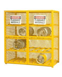 """Durham 16 Cylinder Horizontal 60"""" x 30"""" x 71-3/4"""" Gas Cylinder Storage Cabinet"""