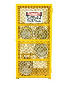 """Durham 8 Cylinder Horizontal 30"""" x 30"""" x 71-3/4"""" Gas Cylinder Storage Cabinet"""