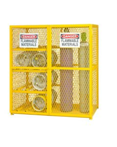 "Durham 8  Horizontal & 9 Vertical Cylinder Combination 60"" x 30"" x 71-3/4"" Gas Cylinder Storage Cabinet"