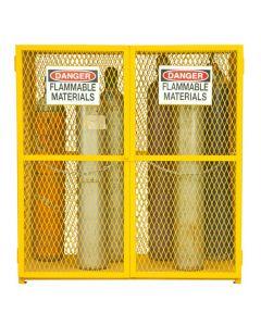 """Durham 18 Cylinder Vertical 60"""" x 30"""" x 71-3/4"""" Gas Cylinder Storage Cabinet"""