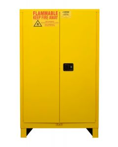 "Durham FM Approved Flammable 43"" x 18"" x 71"" Manual Close Safety Cabinet with Legs"