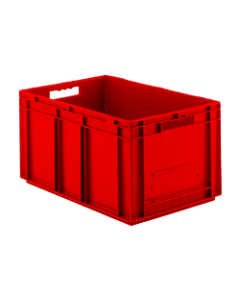 "SSI Schaefer Euro-Fix® Modular Straight Wall Containers 23.7"" X 15.8"" X 11.3"" Solid Base & Sides Red"