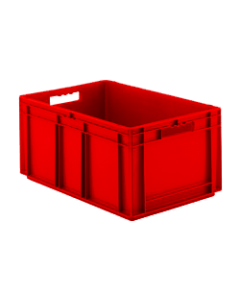 "SSI Schaefer Euro-Fix® Modular Straight Wall Containers 23.7"" X 15.8"" X 12.6""  Solid Base & Sides Red"