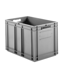 "SSI Schaefer Euro-Fix® Modular Straight Wall Containers 15.8"" x 15.8"" x 16.6"" Solid Base & Sides Gray"