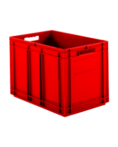 "SSI Schaefer Euro-Fix® Modular Straight Wall Containers 15.8"" x 15.8"" x 16.6"" Solid Base & Sides Red"