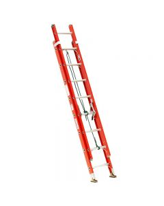 "Michigan Ladder 20-foot, 300 Pound Rated, 18""W x 7""D x 124.5""H,  17' Maximum Extended Type 1A Fiberglass Extra Heavy Duty Extension Ladder"