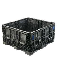 "Heavy Duty Bulk Container 48"" x 45"" x 27"", Solid Deck, Doors on 48"" Sides"