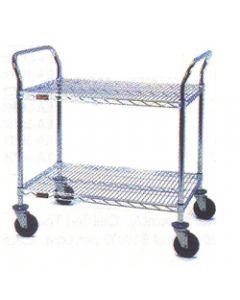 "Eagle Group Heavy Duty 2 Shelf Utility Cart Eagle Brite® 18"" x 36"""