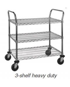 "Eagle Group Heavy Duty 3 Shelf Utility Cart Eagle Brite® 18"" x 36"""
