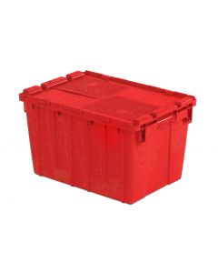 "Orbis 22"" x 15"" x 13"" Attached Lid Container - Red"