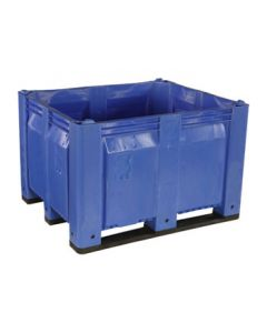 "Decade MACX 40"" x 48"" x 31"" Fixed Wall Bulk Container with Longside Runners - Blue"
