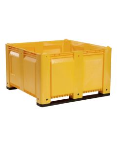 "Decade MACX 48"" x 48"" x 31"" Fixed Wall Bulk Container - Yellow"