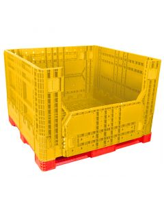 "Macro Plastics IsoBin 45"" x 47"" x 30"" Collapsible Bulk Pallet Container"
