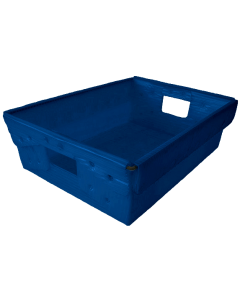 "Corrugated Plastic Nestable Tote 18"" x 13"" x 6"" Blue"
