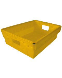 "Corrugated Plastic Nestable Tote 18"" x 13"" x 6"" Yellow"