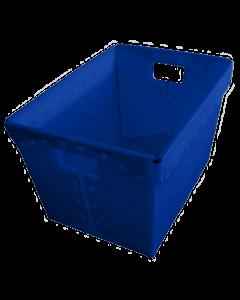 "Corrugated Plastic Postal Nesting Tote 18"" x 13"" x 12"" Blue"