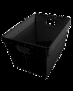 "Corrugated Plastic Postal Nesting Tote 18"" x 13"" x 12"" Black"