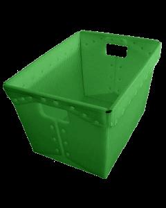 "Corrugated Plastic Postal Nesting Tote 18"" x 13"" x 12"" Green"