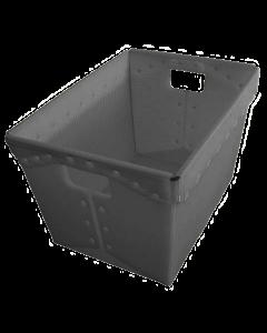 "Corrugated Plastic Postal Nesting Tote 18"" x 13"" x 12"" Grey"