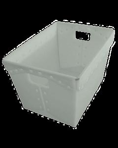 "Corrugated Plastic Postal Nesting Tote 18"" x 13"" x 12"" Natural"