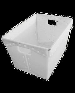 """Corrugated Plastic Postal Nesting Tote 18"""" x 13"""" x 12"""" White"""
