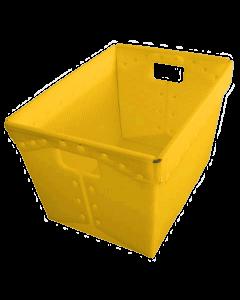 "Corrugated Plastic Postal Nesting Tote 18"" x 13"" x 12"" Yellow"