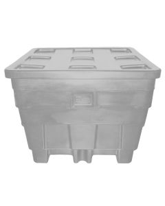 "Meese 50"" x 45"" x 39"" Ship Shape Container Gray"