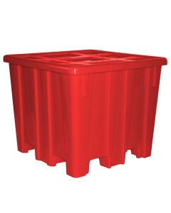 "Meese 44"" x 44""x 45.5"" Ship Shape Bulk Container Red"