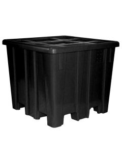 "Meese 44"" x 44""x 45.5"" Ship Shape Bulk Container Black"