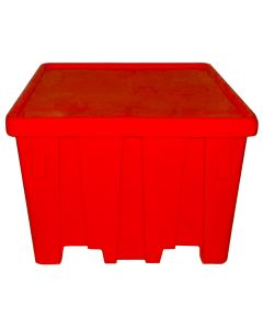 "Meese 44"" x 44"" x 32.5"" Ship Shape Bulk Container Red"