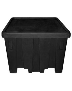 "Meese 44"" x 44"" x 32.5"" Ship Shape Bulk Container Black"