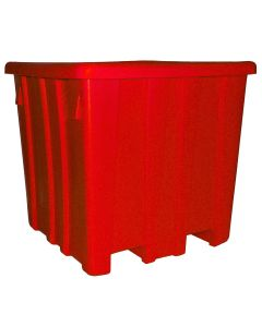 "Meese 44"" x 44"" x 44"" Ship Shape Bulk Container Red"