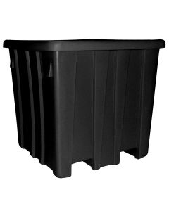 "Meese 44"" x 44"" x 44"" Ship Shape Bulk Container Black"