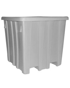 "Meese 44"" x 44"" x 44"" Ship Shape Bulk Container Gray"