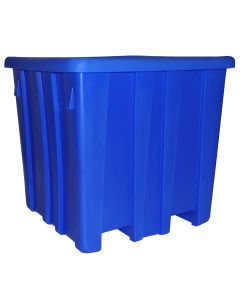 "Meese 44"" x 44"" x 44"" Ship Shape Bulk Container Royal Blue"