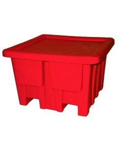 "Meese 48"" x 48"" x 30"" Ship Shape Bulk Containers Red"