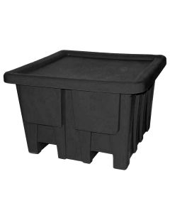 "Meese 48"" x 48"" x 30"" Ship Shape Bulk Containers Black"