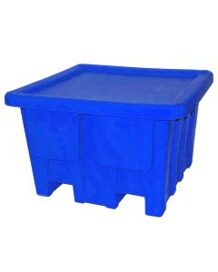 "Meese 48"" x 48"" x 30"" Ship Shape Bulk Containers Royal Blue"