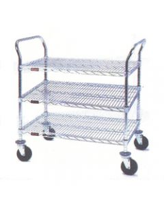 "Eagle Group Medium Duty 3 Shelf Utility Cart Eagle Brite® 18"" x 24"""