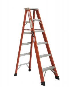Michigan Ladder 6-Foot, 300 Pound Duty Rating,  Type 1A Fiberglass Double Front Stepladder