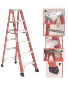 Michigan Ladder 3-Foot, 300 Pound Duty Rating, Type 1A Fiberglass Double Front Stepladder