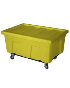 "Myton 38"" x 25.5"" x 3"" Lid for MTA Series Truck Yellow"