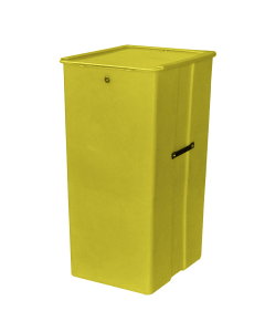 "Myton 23.5"" x 20"" x 41"" Smooth Wall Container Heavy Duty Yellow"