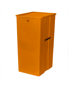 "Myton 23.5"" x 20"" x 41"" Smooth Wall Container Heavy Duty Orange"