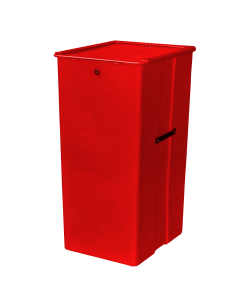 "Myton 23.5"" x 20"" x 41"" Smooth Wall Container Medium Duty Red"